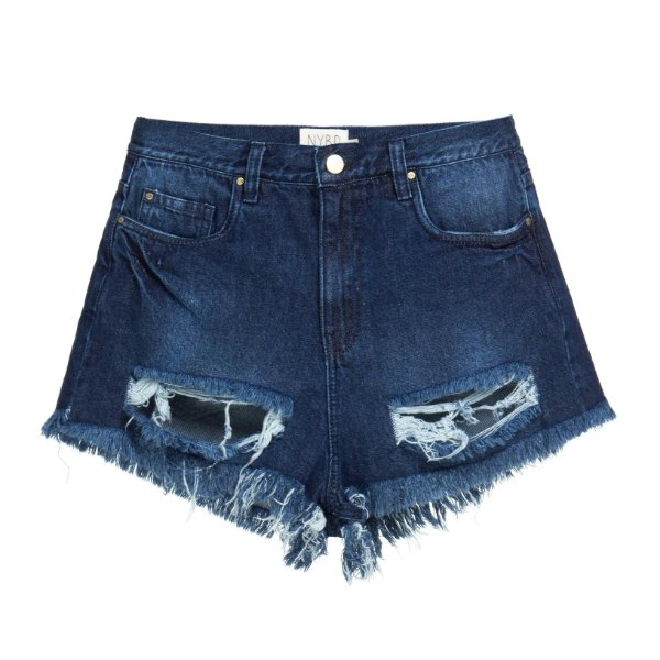 Shorts Destroyed Super Dark Mica Rocha