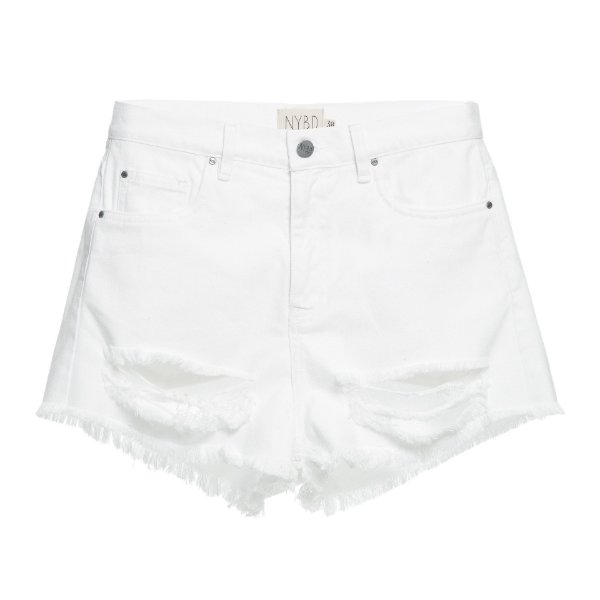 Shorts Destroyed Branco Mica Rocha