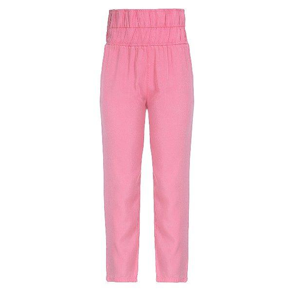 Calça Pijama High Waisted Rosa