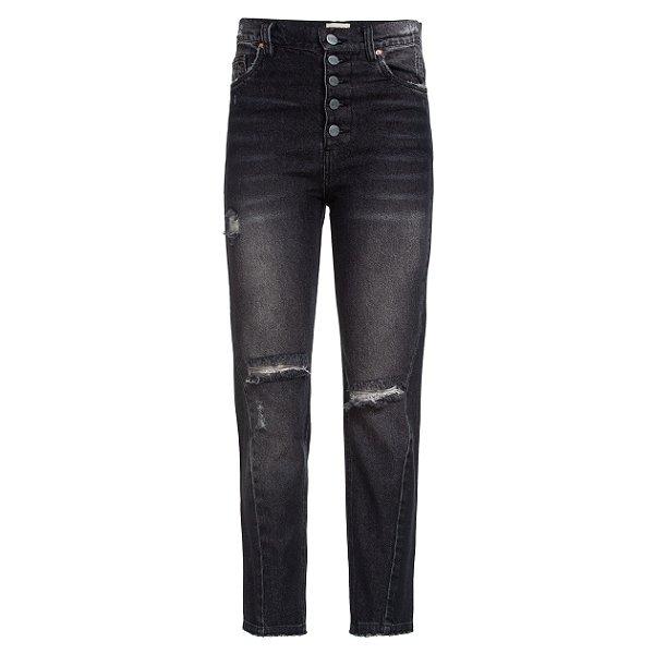 Calça Jeans Costura Torta Black