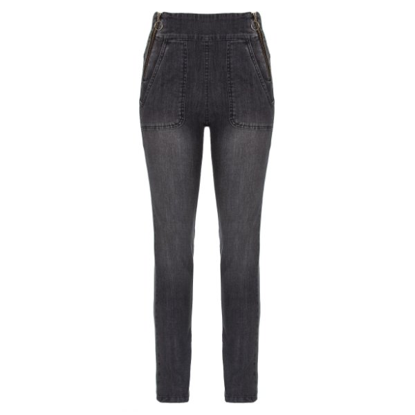 Calça Skinny High Waisted Zíper Black