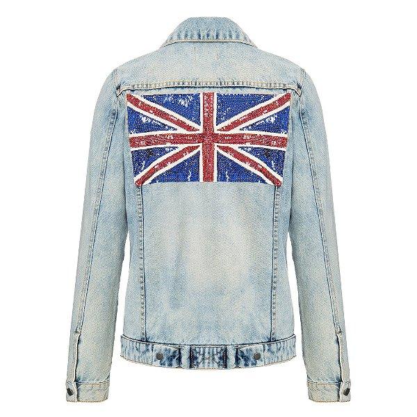 Jaqueta Jeans Inglaterra Marmorizada