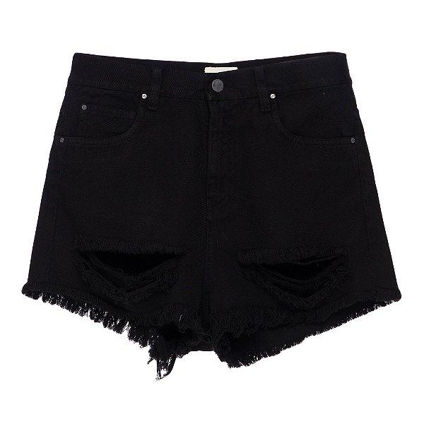 Shorts Mica Rocha Preto