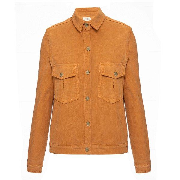 Camisa Jacket Veludo Cotelê  Camelo