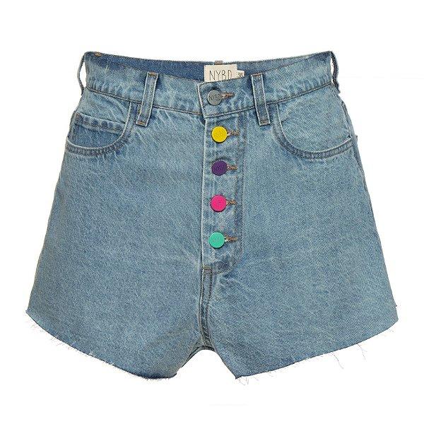 Shorts Botões Coloridos