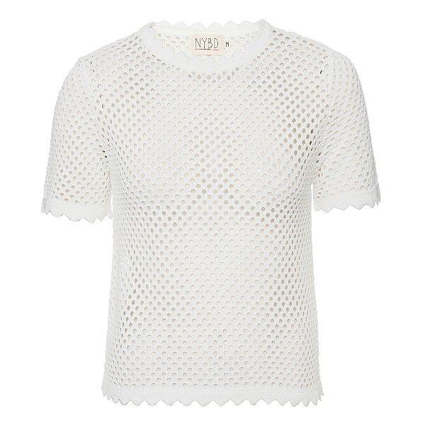 T-Shirt Tricot Furadinha Off White