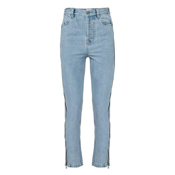 Calça Jeans Reta Zíper Clara