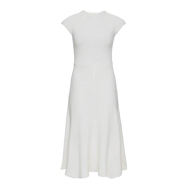 Vestido Midi Tricot Off White