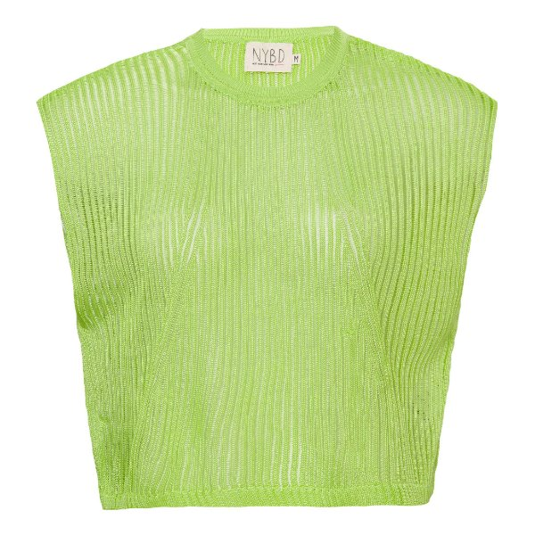 Camiseta Cropped Tricot Lime