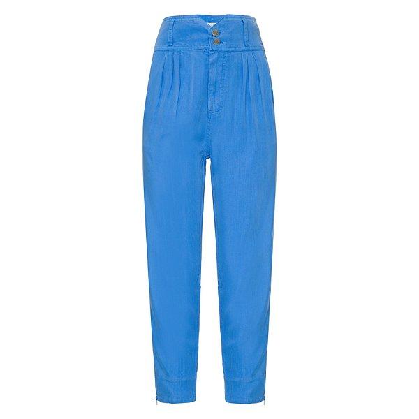 Calça Cenoura Cintura Alta Azul