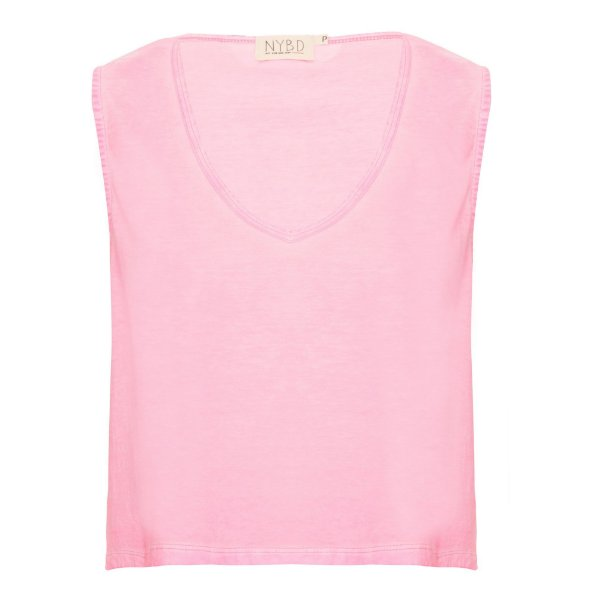 Camiseta Decotão Cropped Rosa