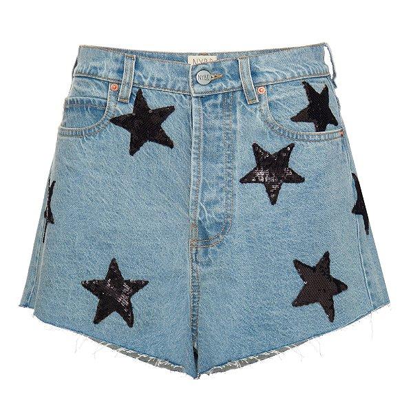 Shorts Básico Estrelas Preto