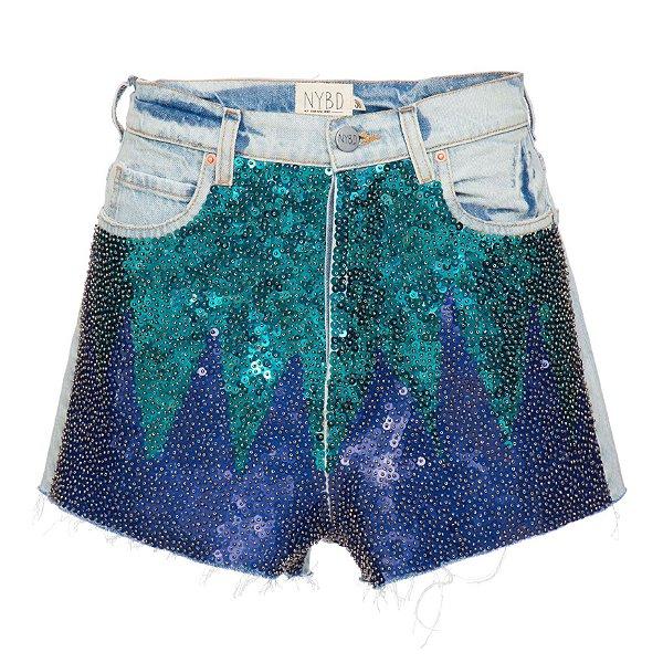 Shorts Básico Rainbow Azul
