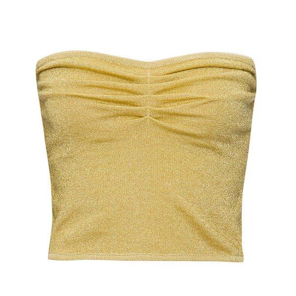 Cropped TQC Lurex Dourado