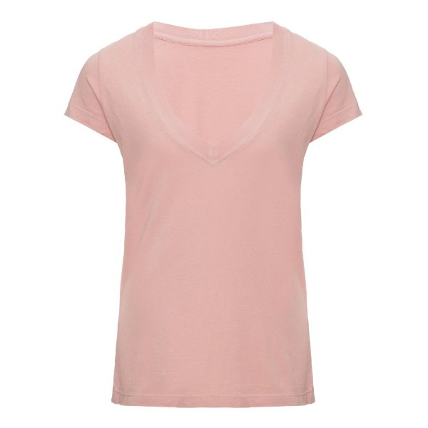 Camiseta Gola V Rosinha