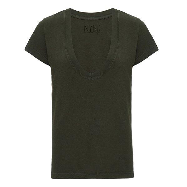Camiseta Gola V Militar