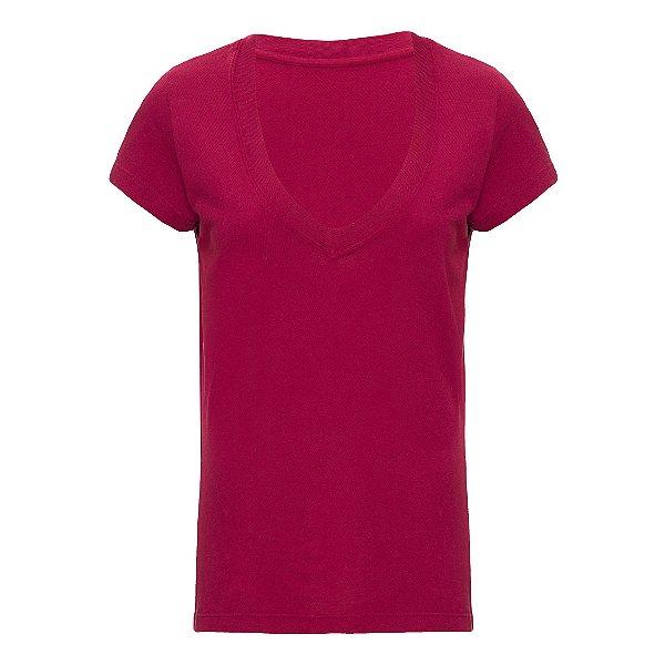 Camiseta Gola V Vinho
