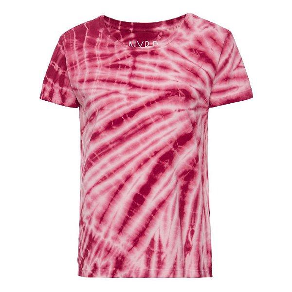 Camiseta básica tie dye Bordeaux