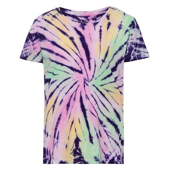 Camiseta básica tie dye Verde