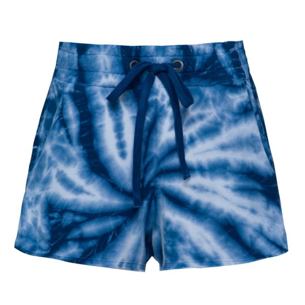 Shorts Moletom Tie Dye Azul