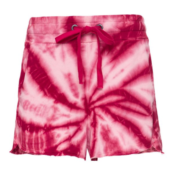 Shorts Moletom Tie Dye Bordeaux