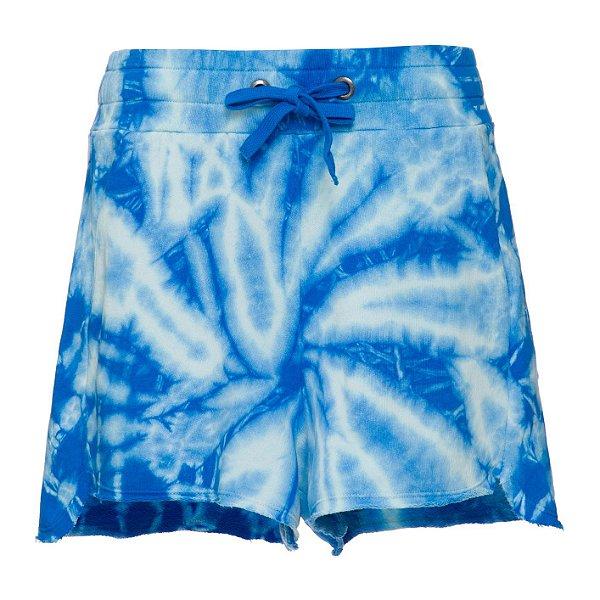 Shorts Moletom Tie Dye Azul Claro
