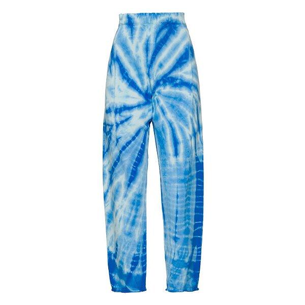 Calça Moletom Tie Dye Azul Claro