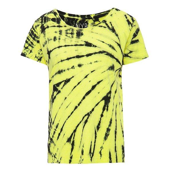 Camiseta básica tie dye Lime