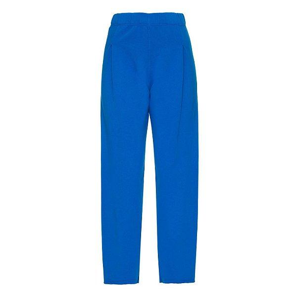 Calça Moletom Liso Azul Bic
