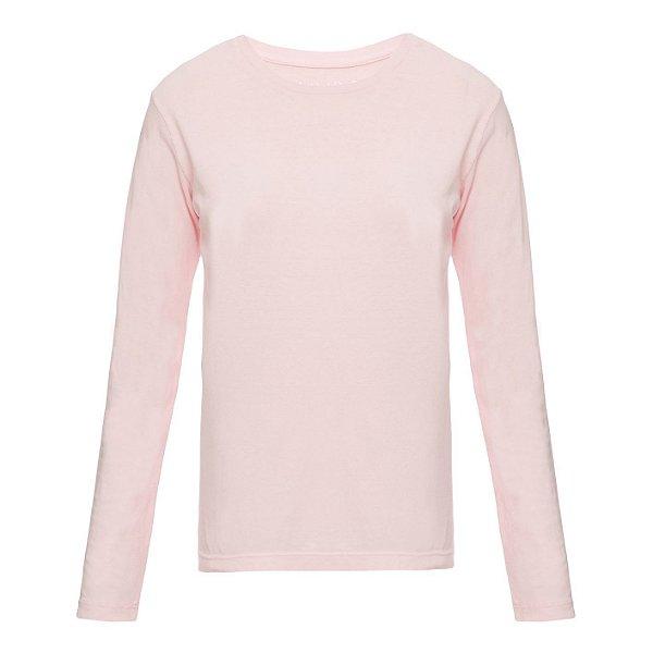 Camiseta básica manga longa Lisa Rosinha