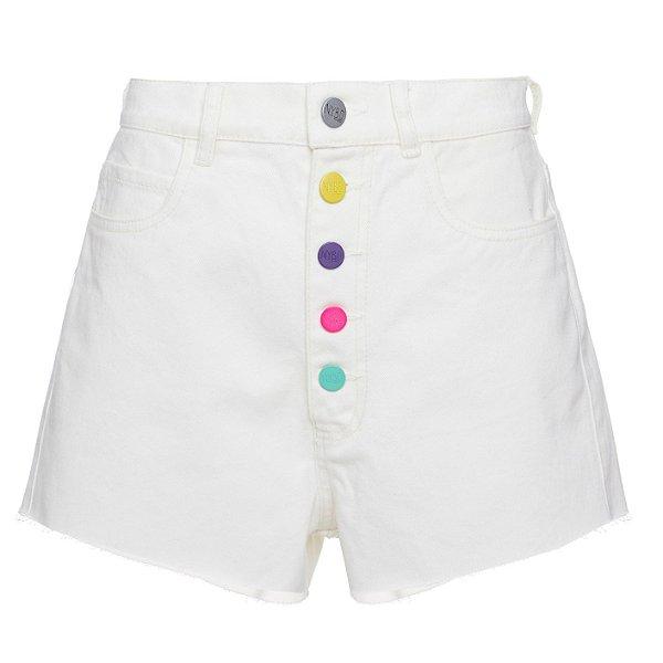Shorts Botões Coloridos Offwhite