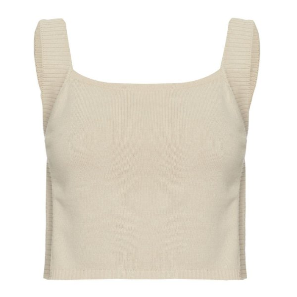 Cropped Tricot Areia
