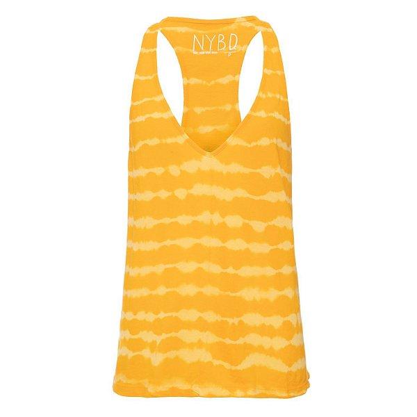 Regata Podrinha tie Dye Amarelo