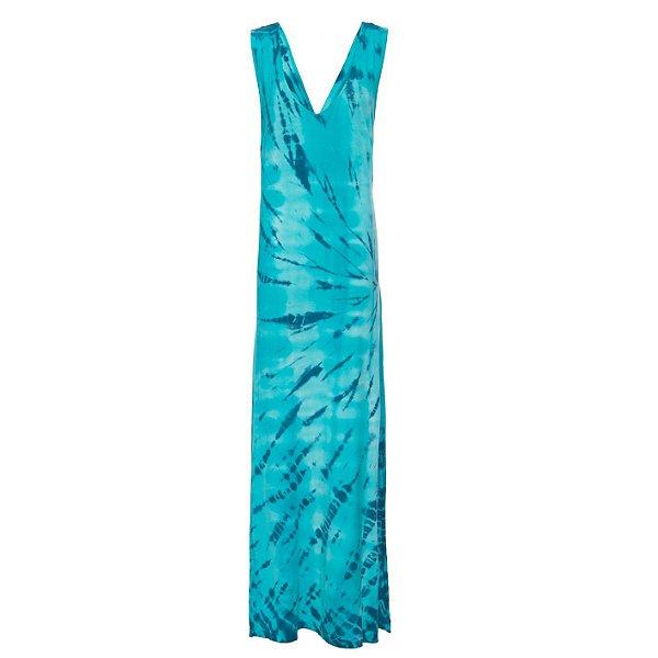 Vestido Praia Tie Dye Turquesa