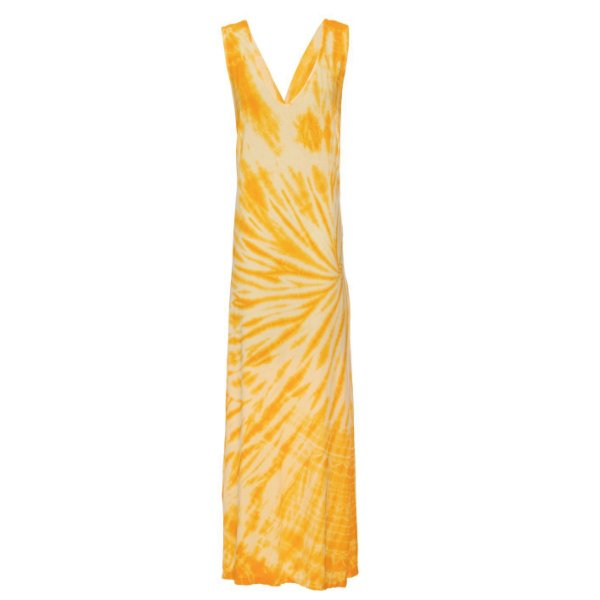 Vestido Praia Tie Dye Amarelo