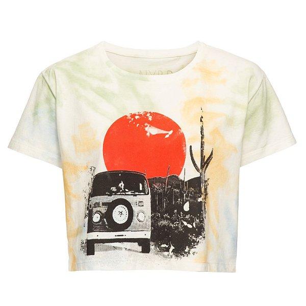 Camiseta Cropped Tie Dye Bus