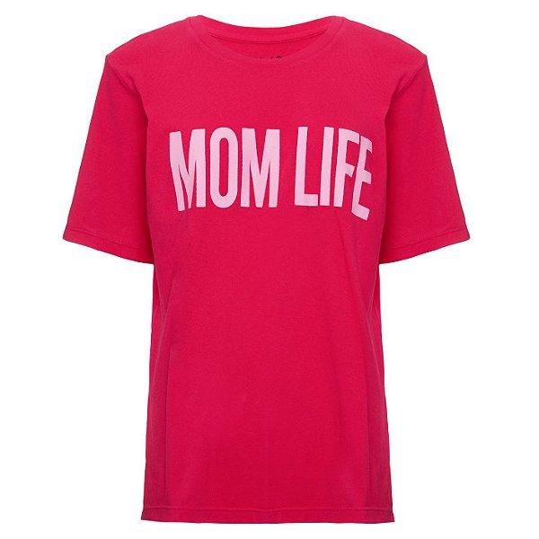 Camiseta Mom Life Cereja