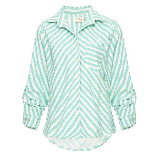 Camisa Listrada Menta