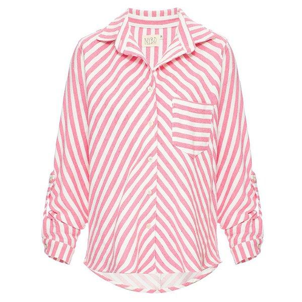 Camisa Listrada Rosa