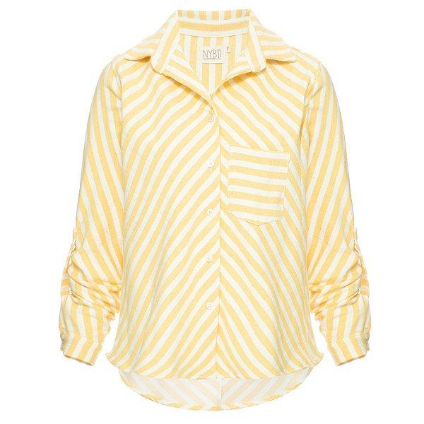 Camisa Listrada Amarela