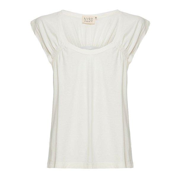 Camiseta Elástico Costas Off White