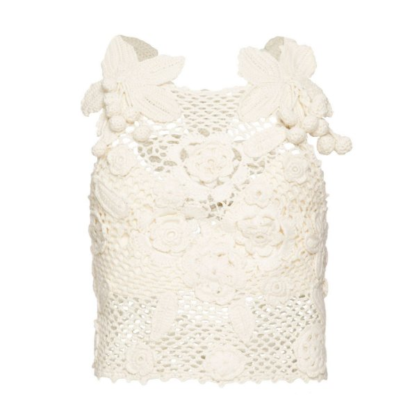Crochet Orquidea Off White