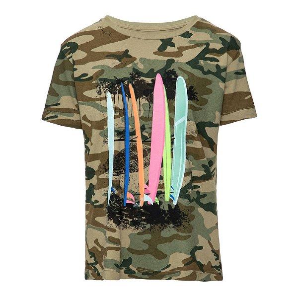 Camiseta Rio Manga Curta Camuflada
