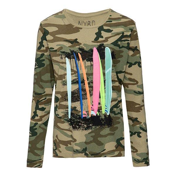 Camiseta Rio Manga Longa Camuflada