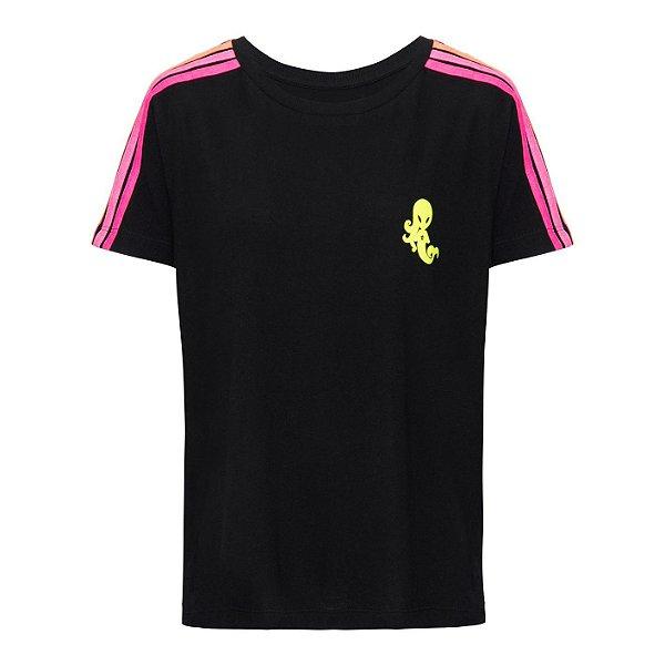Camiseta Rainbow Preto Neon