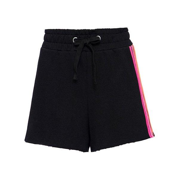 Shorts Rainbow Neon Preto