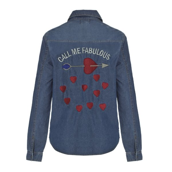 Camisa Jacket Call Me Fabulous Lavagem Escura