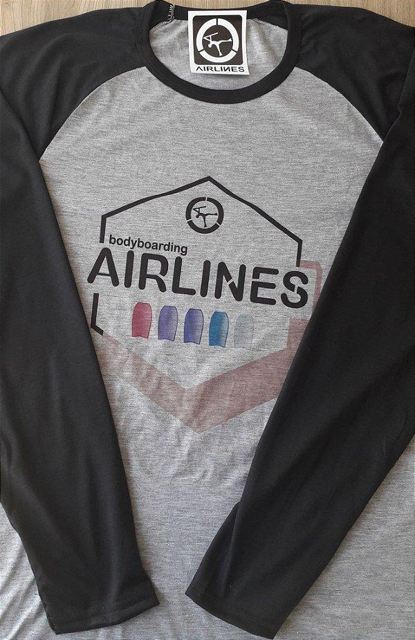 Camiseta manga longa BB Airlines Hexagon 2.0