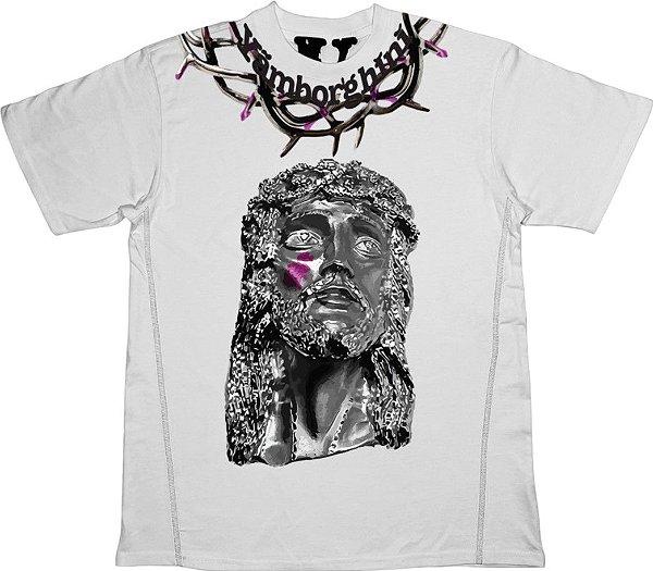 "!VLONE x YAMS DAY - Camiseta Jesus Piece ""Branco"" -NOVO-"