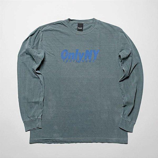 """ONLY NY - Camiseta Manga Longa Sportwear """"Verde"""" -NOVO-"""